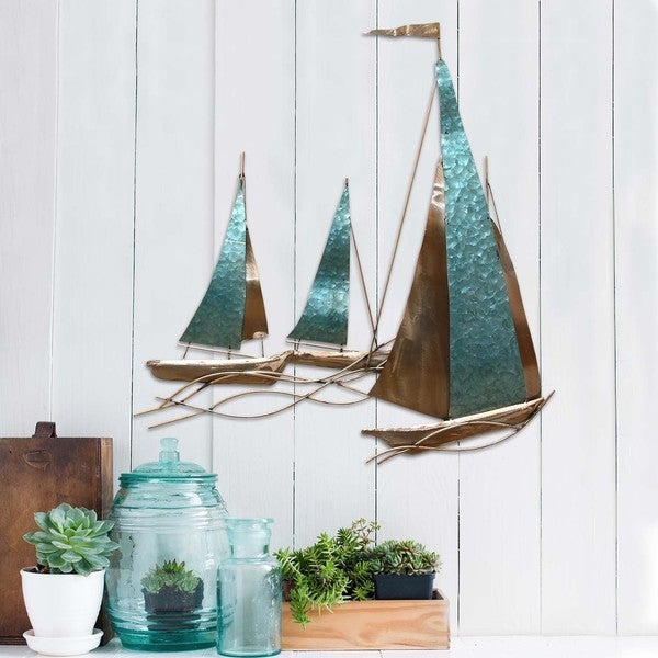 Https Www Overstock Com Home Garden Stratton Home Decor Sailboat Wall Decor 11210333 Product Html