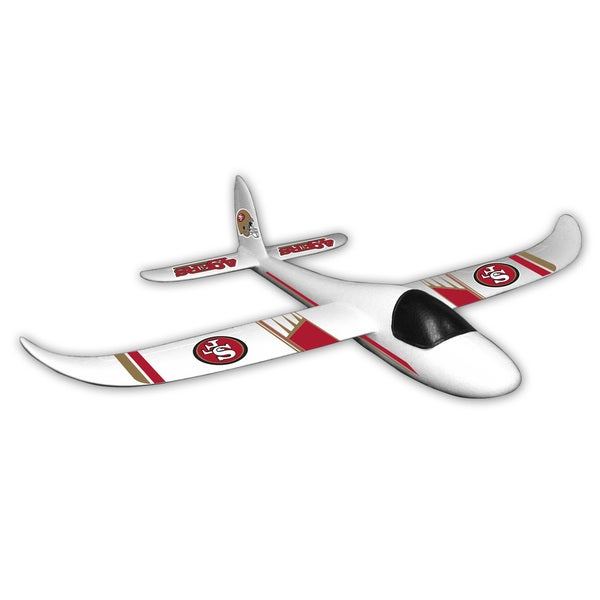 NFL San Francisco 49ers Sky Glider Foam Airplane