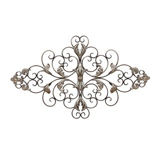 Copper Grove Plumeria Ornate Metal Wall Decor