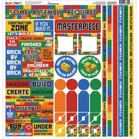 Block Party Cardstock Multi Stickers 12inX12in