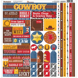 Cowboy Cardstock Multi Stickers 12inX12in