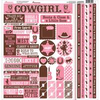 Cowgirl Cardstock Multi Stickers 12inX12in
