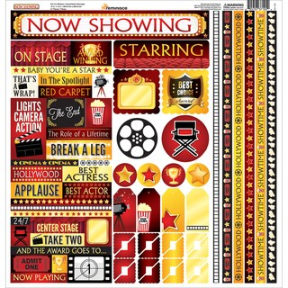 Now Showing Cardstock Multi Stickers 12inX12in