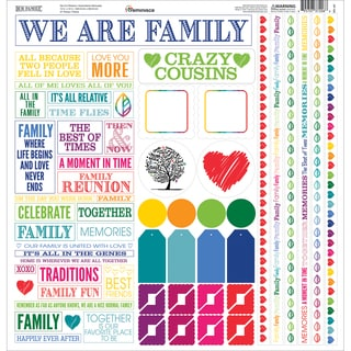 Our Family Cardstock Multi Stickers 12inX12in