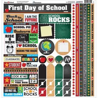 Back To School Cardstock Multi Stickers 12inX12in