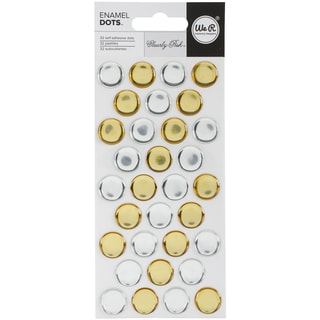 Clearly Posh Enamel Stickers Silver & Gold Dots