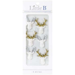 Little B Mini Stickers White Stags