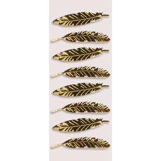 Little B Mini Stickers Gold Feathers