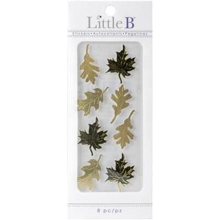 Little B Mini Stickers Gold Autumn Leaves
