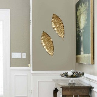 Silver Orchid Laurel Home Decor Elegant Leaf Wall Decor