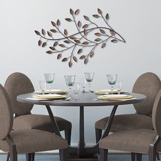 Silver Orchid Nansen Blowing Leaves Wall Decor