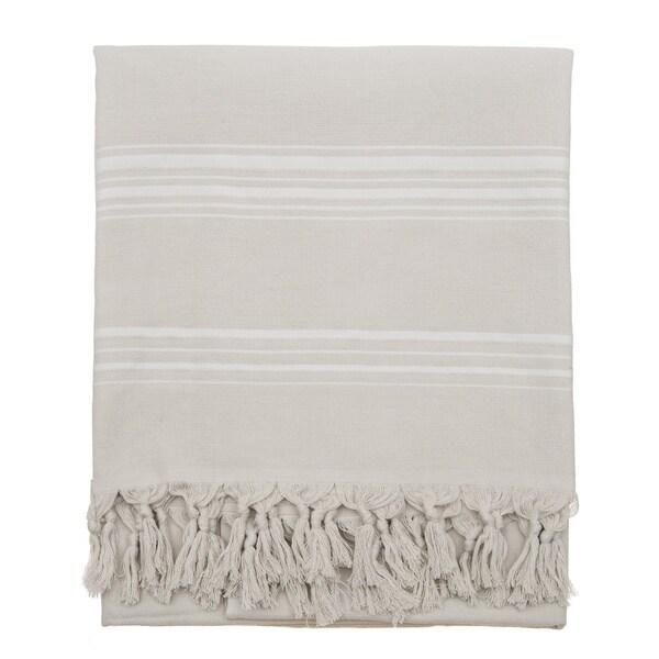 Menton Grey Fouta Beach Towel