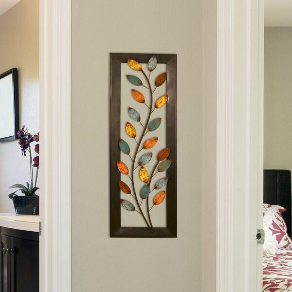 Stratton Home Decor Patina Scroll Leaf Metal Wall Art ~ Stratton home decor winding leaves panel wall free
