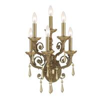 Crystorama Traditional 6-light Aged Brass Wall Sconce
