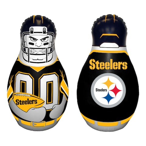 NFL Pittsburg Steelers Tackle Buddy Inflatable Punching Bag - Balck - 40 Inches Tall