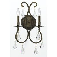 Crystorama Ashton Collection 2-light English Bronze Wall Sconce