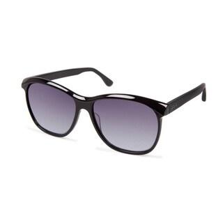 Cynthia Rowley Eyewear CR5016 No. 61 Black Rectangle Plastic Sunglasses