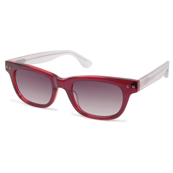 03c997106bfb Shop Cynthia Rowley Eyewear CR5015 No. 07 Red Square Plastic Sunglasses -  Burgundy - Free Shipping Today - Overstock.com - 11210655