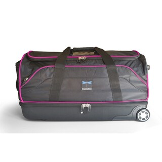 Travolution 28-inch Black/Grey Wheeled Drop-bottom Duffel with Garment Rack
