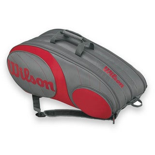 Wilson Team 12 Pack Tennis Bag - Gunmetal/Red