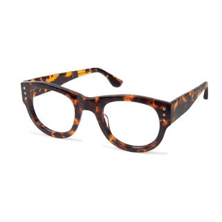 Cynthia Rowley Eyewear CR5014 No. 78 Honey Tortoise Round Plastic Eyeglasses