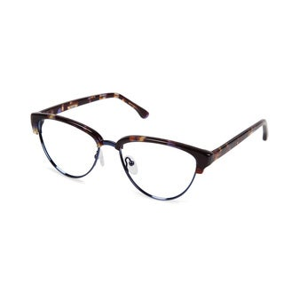 Cynthia Rowley Eyewear CR5007 No. 55 Purple Tortoise Cat-Eye Metal Eyeglasses