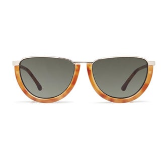 Cynthia Rowley Eyewear CR5017 No. 74 Honey Tortoise Round Metal Sunglasses