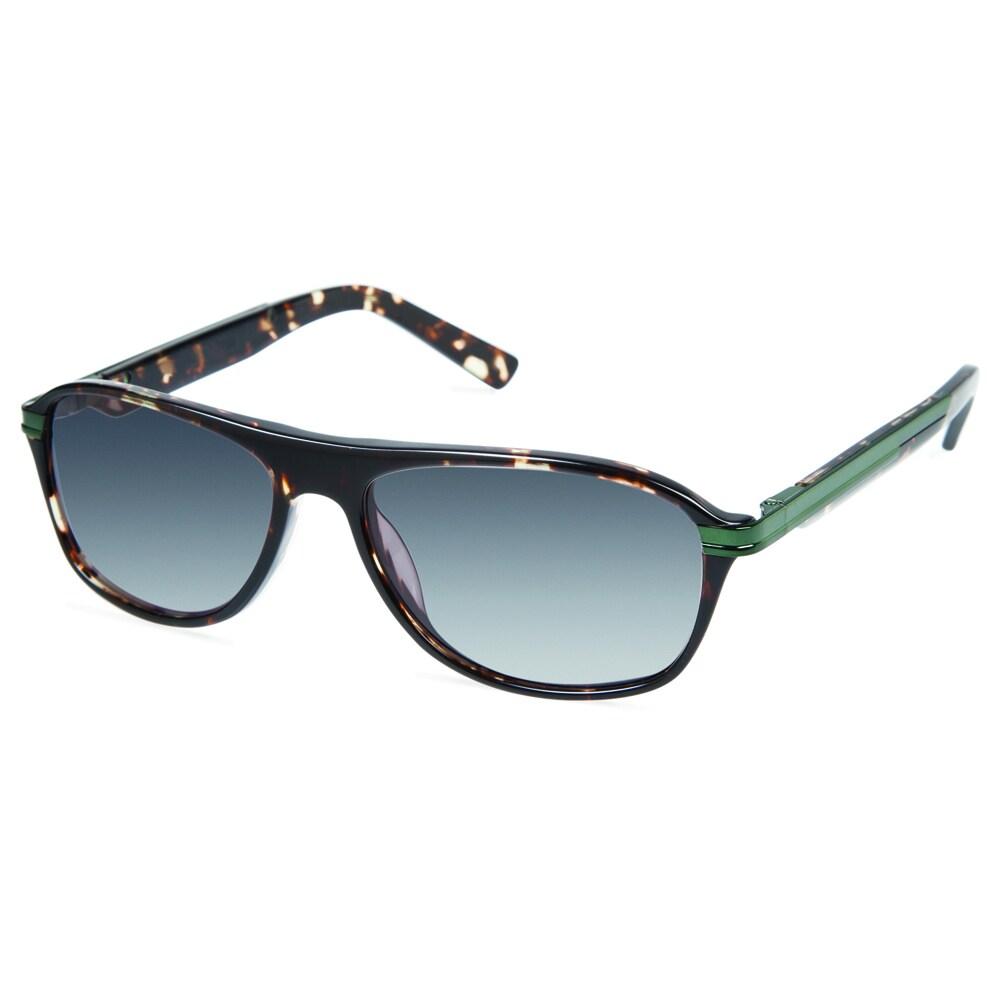 47a84dbcc1 Cynthia Rowley Eyewear CR6018S No. 63 Black Tortoise Round Plastic  Sunglasses