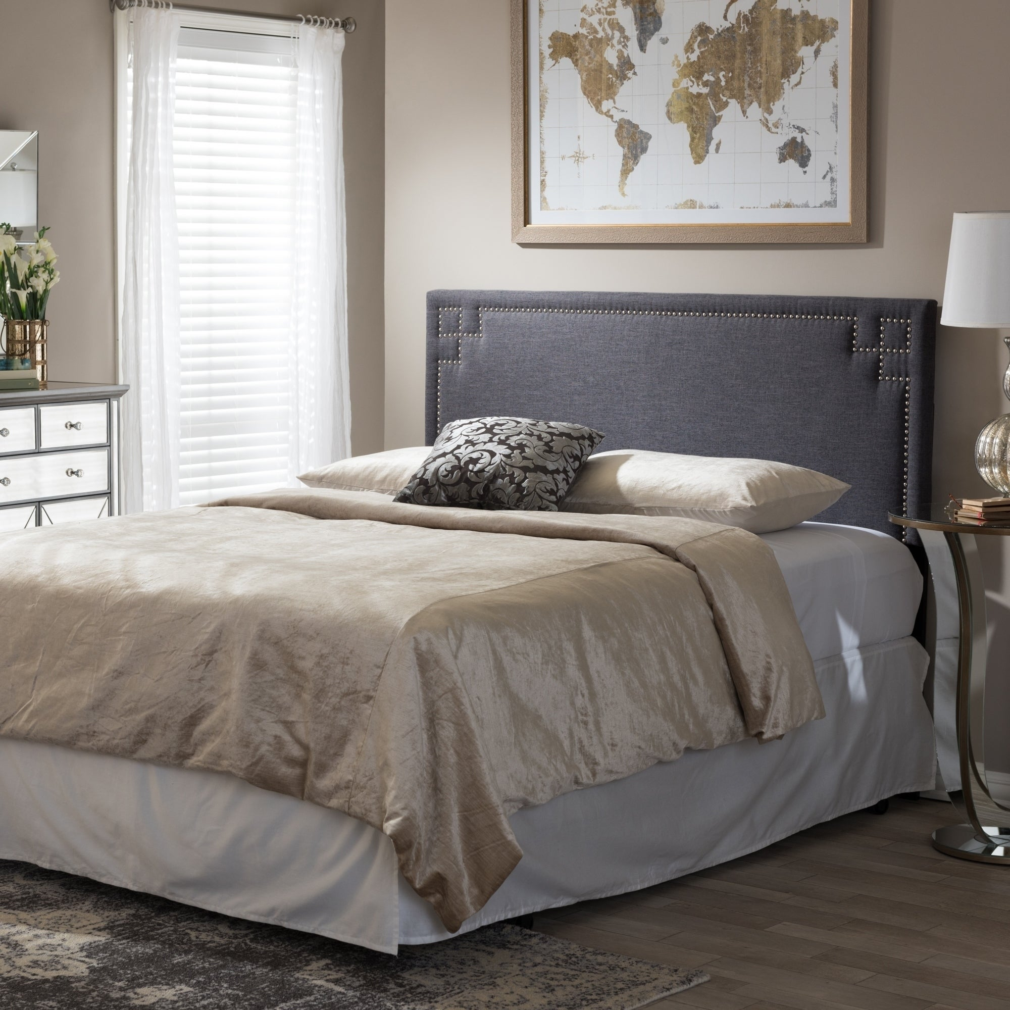 woven today headboard dark king grey upholstered shipping home free tribecca overstock linen garden porter inspire by q product classic