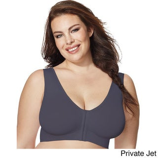 Just My Size Women's Pure Comfort Front-Close Wirefree Bra
