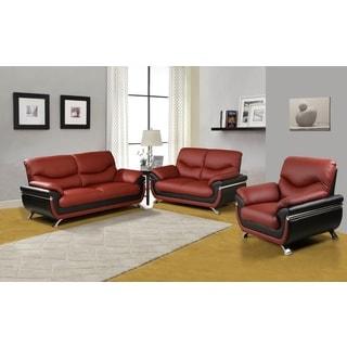 Pisa Sofa Set Red and Black