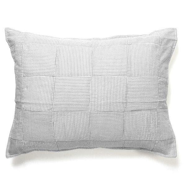 Iden Grey Cotton Striped Sham