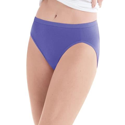 Hanes Women's High-Cut Panties 10-Pack