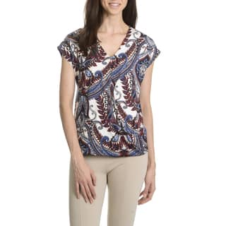 Sunny Leigh Women's Petite Surplice Wrap Top|https://ak1.ostkcdn.com/images/products/11210857/P18198875.jpg?impolicy=medium