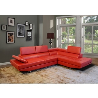 Torino Right Hand Facing Red Sectional