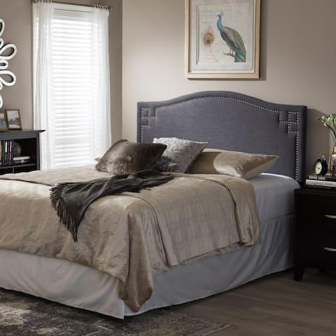 Copper Grove Daisy Modern Dark Grey Upholstered Headboard