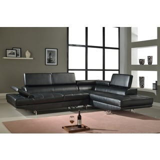 Torino Right Hand Facing Black Sectional