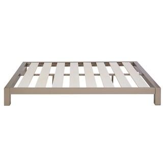 Motif Design Greek Key Metal Headboard and Aura Gray Platform Bed