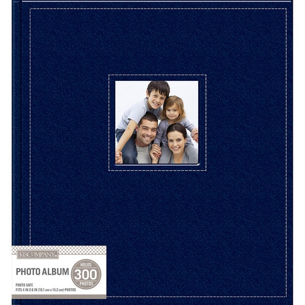 Shop Kcompany 5 Up Faux Leather Photo Album Navy Free Shipping On