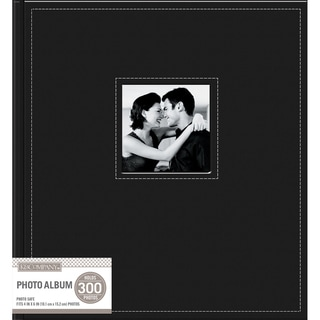 K&Company 5 Up Faux Leather Photo Album  Black