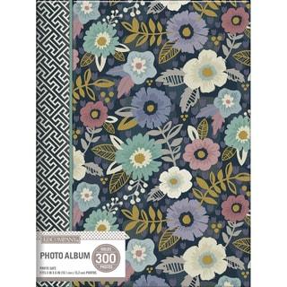 K&Company 3 Up Spiral Memo Photo Album Simple Floral