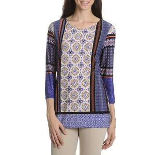 Sunny Leigh Women's Multi Print Top (As Is Item)