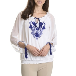 Sunny Leigh Women's Peasant Blouse