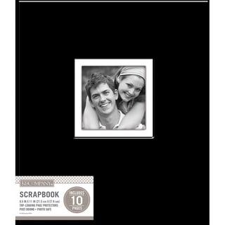 K&Company Faux Leather Post Bound Window Album 8.5inX11in Black