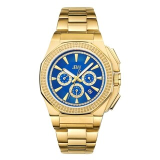 JBW Knox 18k Goldplated Men's Blue Dial Diamond Watch