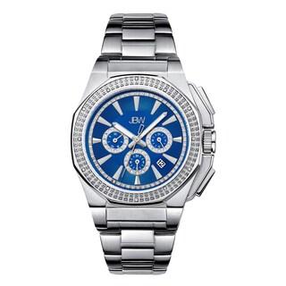 JBW Knox Stainless Steel Men's Blue Dial Diamond Watch