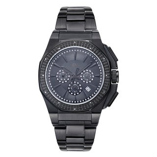 JBW Knox Black Stainless Steel Diamond Accent Watch