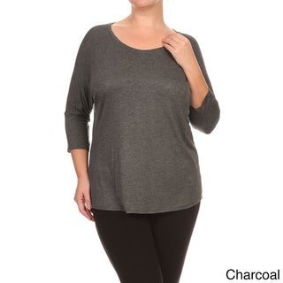 MOA Collection Plus Size Women's Solid Top