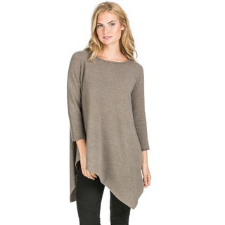 Ply Cashmere Women's Uneven Hem Tunic Cashmere Sweater