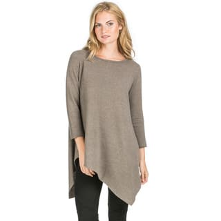 Ply Cashmere Women's Uneven Hem Tunic Cashmere Sweater|https://ak1.ostkcdn.com/images/products/11210993/P18198951.jpg?impolicy=medium